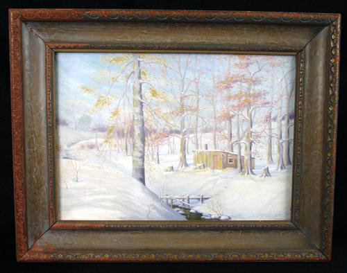 "1917 ""Woodman's Hut"" By Listed Ohio Artist J. S. Royer, Stunning!"