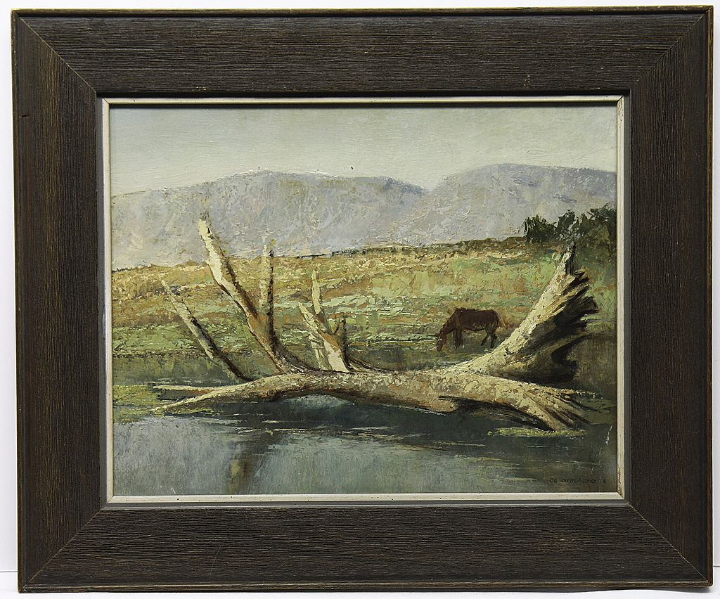 Landscape With Horse by Listed Mexican Artist Luis Felipe De Antunano (XX)