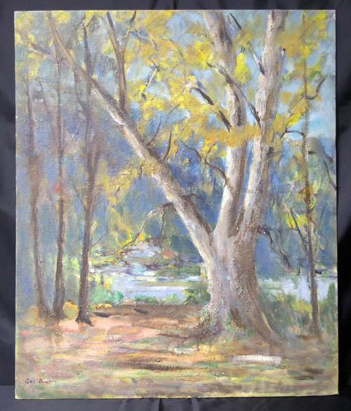 Fine Brown County IN Landscape Painting by Noted Hoosier Artist George C. Baum