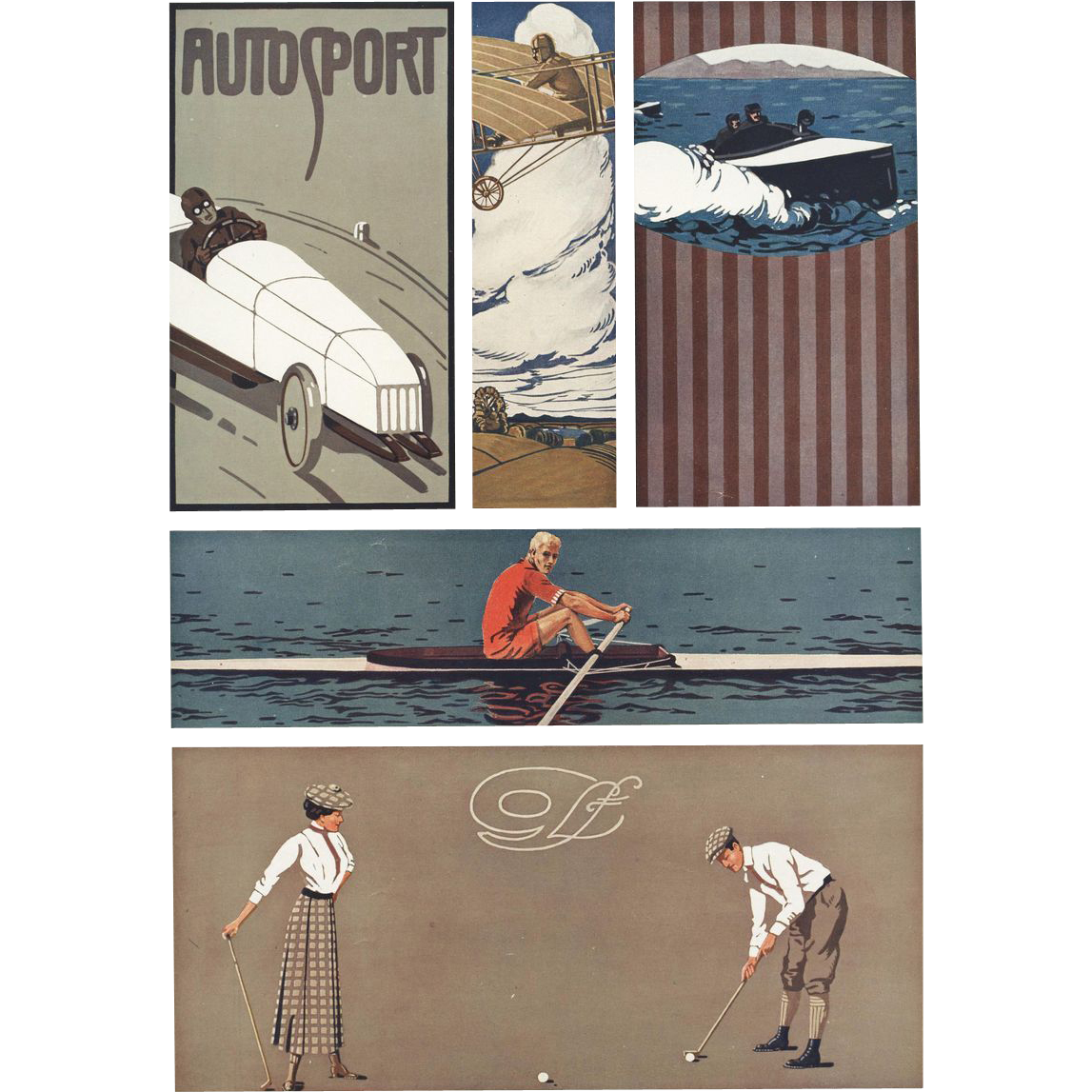 Art Deco / Nouveau Sports Graphic / Lithograph K. Biebrach