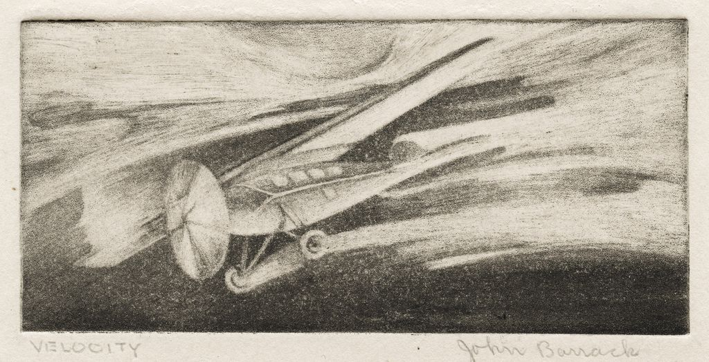 """Velocity"" Original Etching by John Leo Borrack"