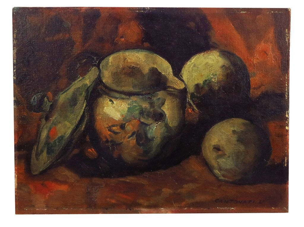 c. 1920 Still Life Painting by NYC Artist L. Cantonati