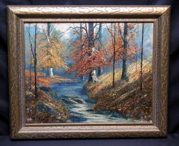 Exceptional Indiana Landscape Painting by William A. Eyden, Jr. (1893-1982), Listed American Artist