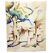 "1933 Watercolor by WPA Artist Katherine ""Kady"" Faulkner"