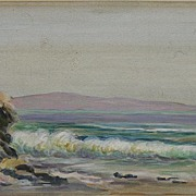 Coastal Scene by Listed CA Artist Amelia V. Fulkerson  (1861 - 1928)