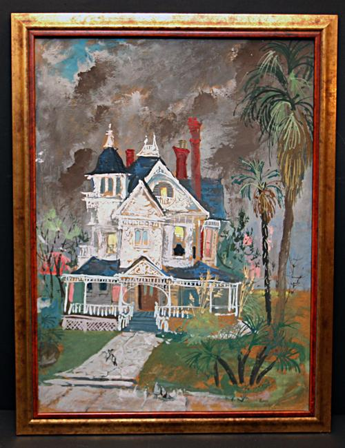 "California Style Painting ""Magician's House"" by Listed Artist Lois Cohen Green"
