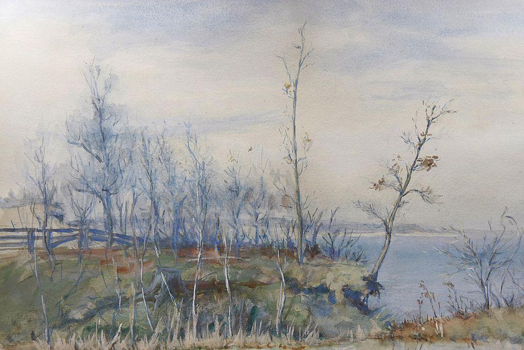 Impressionist Coastal Scene by Ida C. Haskell (1861-1932)