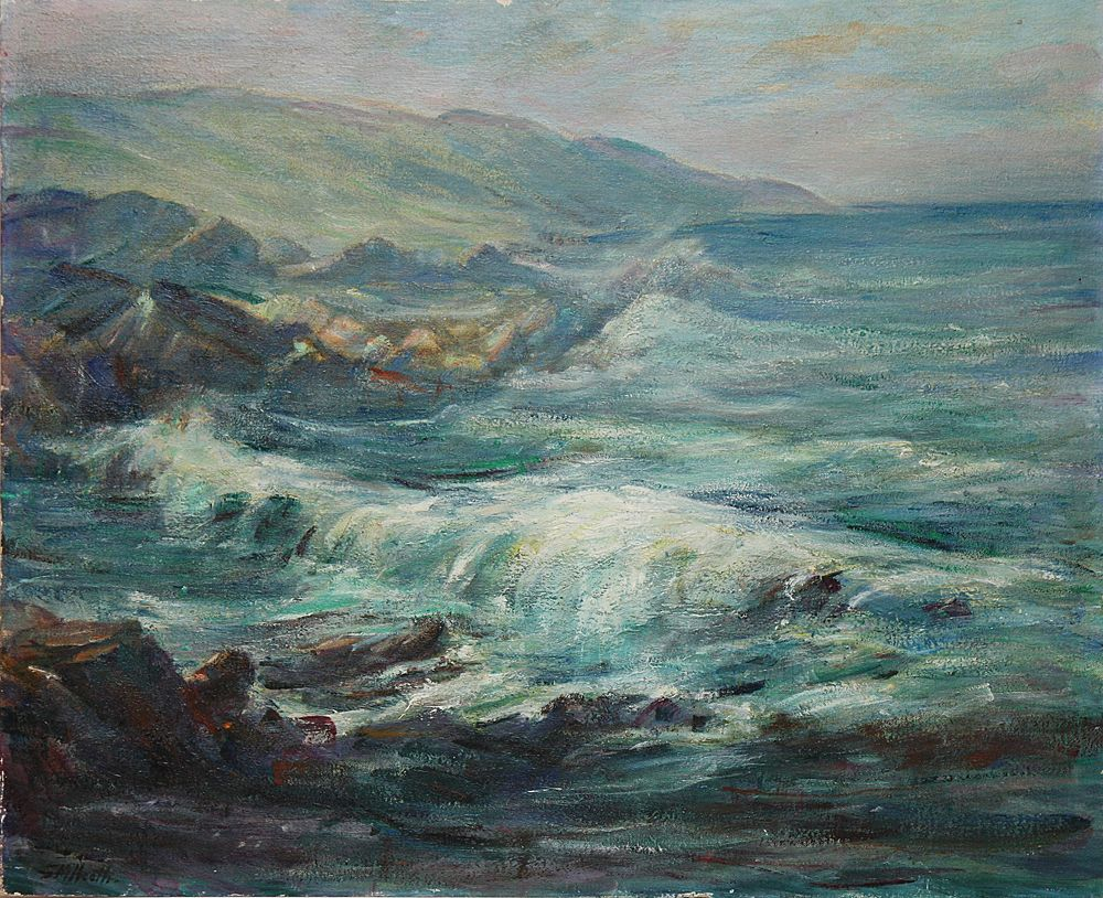 Original CA Impressionist Oil/Board Carmel Coast by Edda M. Heath