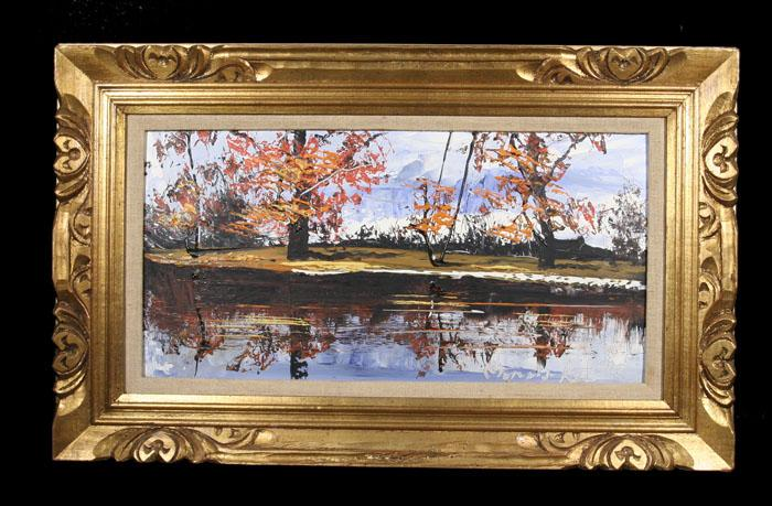 Large Vintage Painting by Listed NY Artist Morris Katz