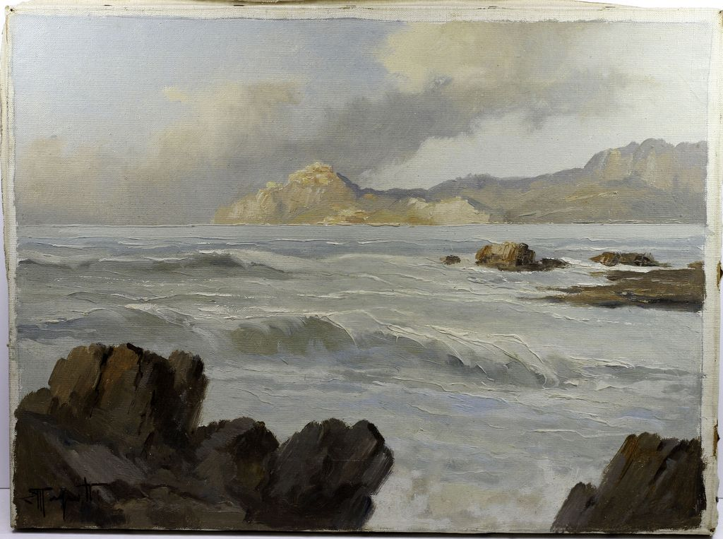 Italian Coastal Scene by Listed Artist Ercole Magrotti (1890-1967)