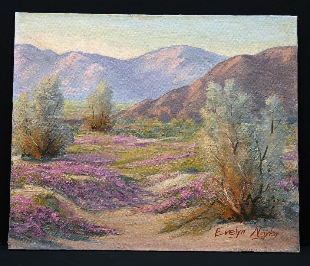 Desert Landscape, Arizona 1960, by Evelyn Naylor, CA Palm Springs Artist