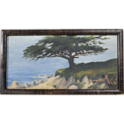 Early 20th Cent. CA Coastal Painting, Singed Initials
