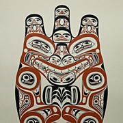 """Haida Grizzly"" by Canadian Artist Bill Reid, 1973 Silkscreen # 545/600"