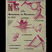 Art Deco Graphic Print c. 1920, Printing Advertisement