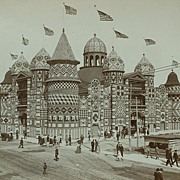 Rare Original Photograph of the Mitchell Corn Palace, 1906