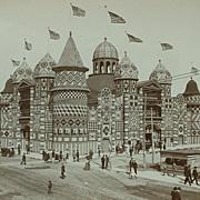 Rare Original Photograph of the Mitchell Corn Palace, 1906