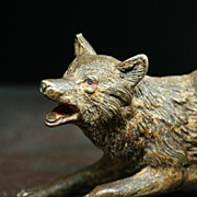 Miniature Vienna / Austrian Sporting Bronze of a Fox