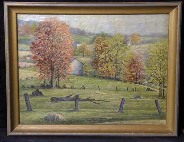 Fine Early 20th Century Pennsylvania Impressionist Landscape, Artist Unknown