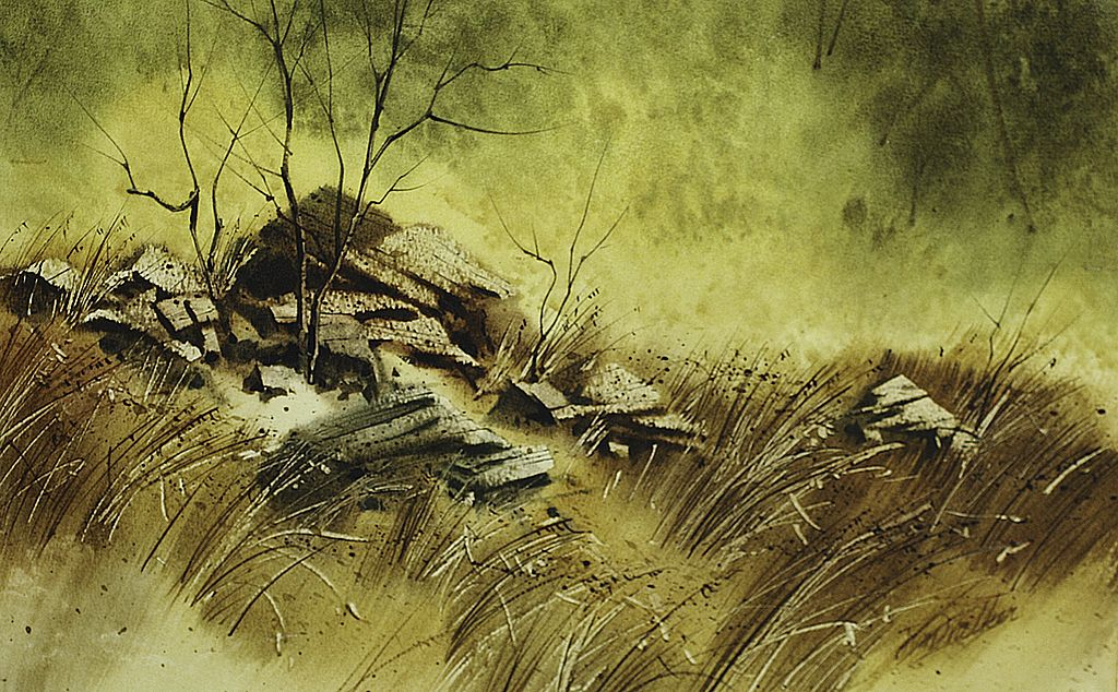 """Rock Pile"" Original Watercolor Signed By Artist"