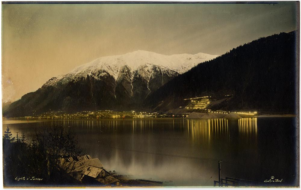 """Lights of Juneau"" Rare Alaskan Photograph by Winter & Pond Studios"