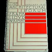 1938 Architectural Forum Frank Lloyd Wright Issue
