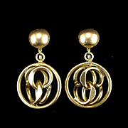 Vintage Gold Filled Dangling Chandelier Screw Back Earrings