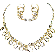 1950s Sarah Cov. Celestial Fire Necklace and Earrings