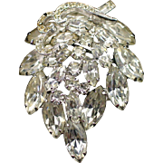 Gorgeous Signed Weiss Layered Rhinestone Brooch Pin
