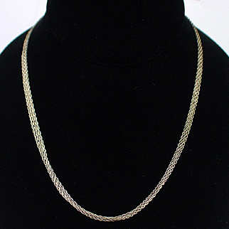 Vintage Fine Italian Triple Twist Chain Sterling Necklace