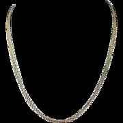 Vintage Fine Italian Triple Twist Chain Sterling Necklace