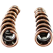 Renoir Modernist Spiral Copper Earrings