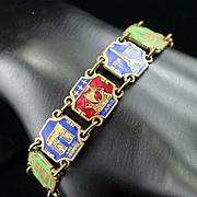 French Enamel Souvenir Tourist Bracelet