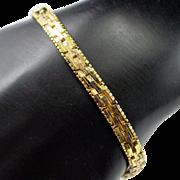 Vintage Milor Italy Sterling Vermeil Woven Bracelet