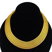Stunning Carolee 4 Strand Gold Tone Mesh Torsade Necklace