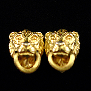 Unique Vintage Mimi DI N Lion Door Knocker Earrings