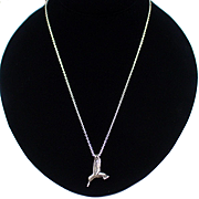 Beautiful Vintage Sunwest Silver Co. Sterling Hummingbird Slide Necklace