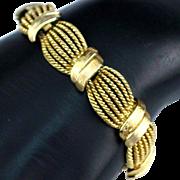 Beautiful Retro Crown Trifari Woven Braid Design Bracelet