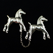 1930s Figural Horse Chatelaine Pins
