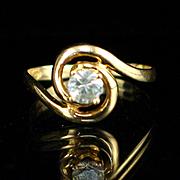 Vintage 10k Light Blue Topaz Ring Size 5