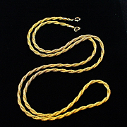 "Unique 31"" Long Napier Gold Filled Woven Mesh Chain Necklace"
