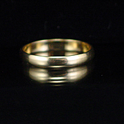 Vintage 10k Yellow Gold Band Ring Size 9