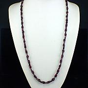 Retro Woven Bohemian Garnet Continuance Strand Bead Necklace