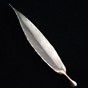 Stuart Nye Large Sterling Silver Leaf Pin Brooch