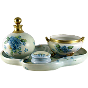 Ladies Boudoir or Dresser Set Limoges and Favorite Bavaria