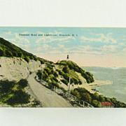 Island Curio Company Diamond Head and Lighthouse Post Card
