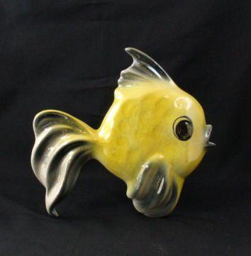 Ceramicraft Tropic Treasures Ceramic Angelfish Retro Decor