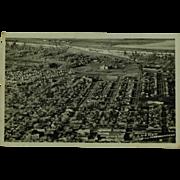 Real Photo Post Card Circa 1953 Aerial View of Billings Montana
