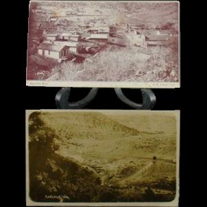 Circa 1910 Town Views of Hartville Wyoming Main Street