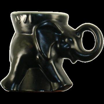 Frankoma Pottery Political Mug GOP 1971 Black