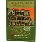 Vintage Murano Glass Tour Brochure Compagne Venise Murano  (ON SALE)